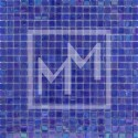 Mosaique bleu foncé irisé 15*15 mm