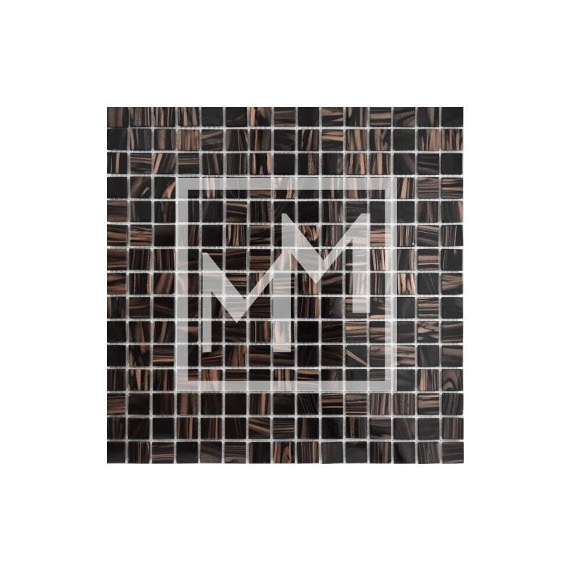 Carrelage mosaique noir dor e salle de bain - Mosaique doree ...
