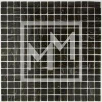 Mosaique haut de gamme noir anthracite dorée 20*20 mm