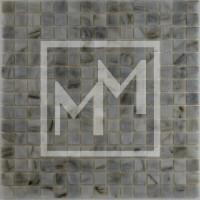 Mosaique gris marron foncé lisse 20*20 mm