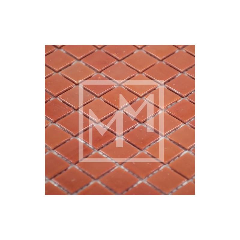 Mosaïque, carrelage, mosaïque rouge brique pour salle de bain